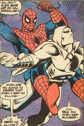 spider-man versus Moon Knight