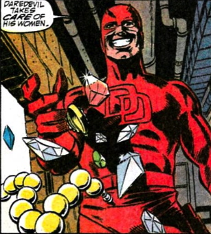 bullseye crossdresses as daredevil