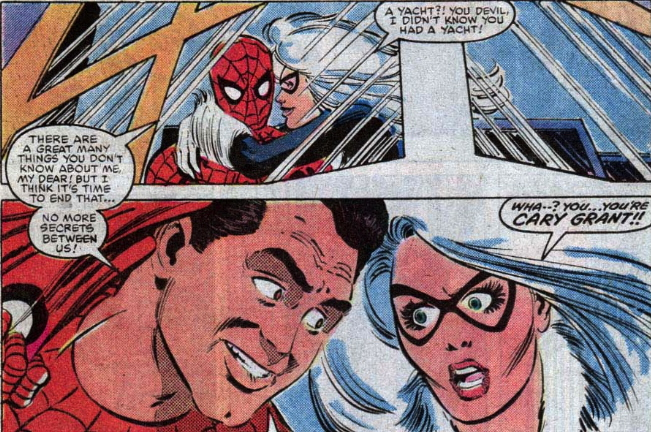 spider-man is Cary Grant