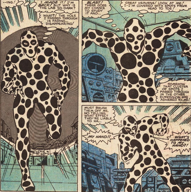 1st appearance of the spot marvel