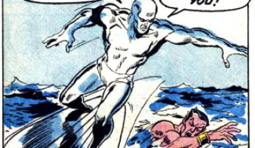 silver surfer actually surfs!