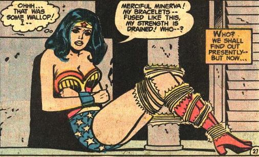 wonder woman in bondage