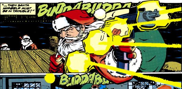 gun toting santa claus