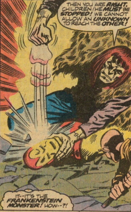 Frankenstein beats the snot out of Iron Man
