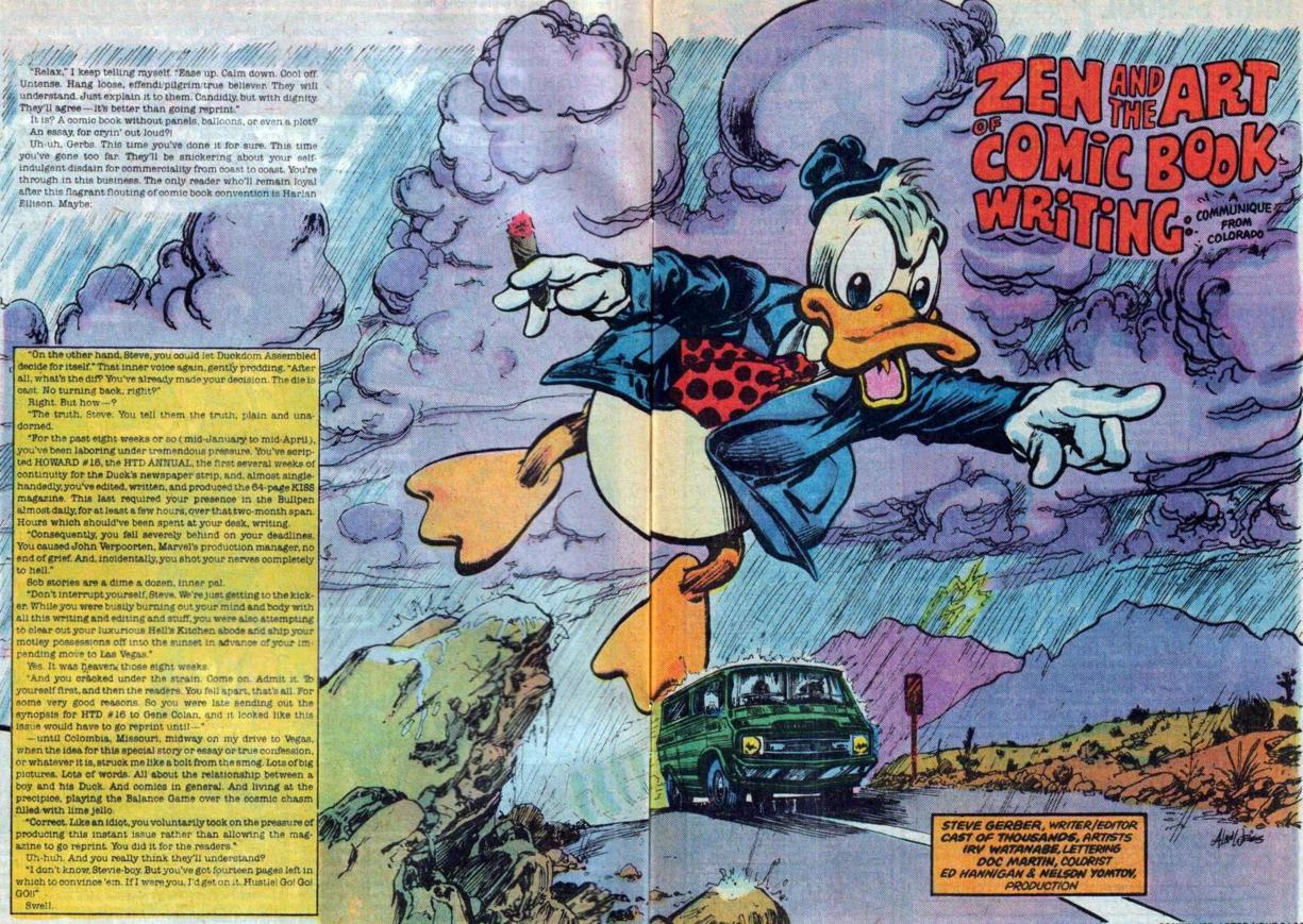 Howard the duck zen and the art of comic book writing