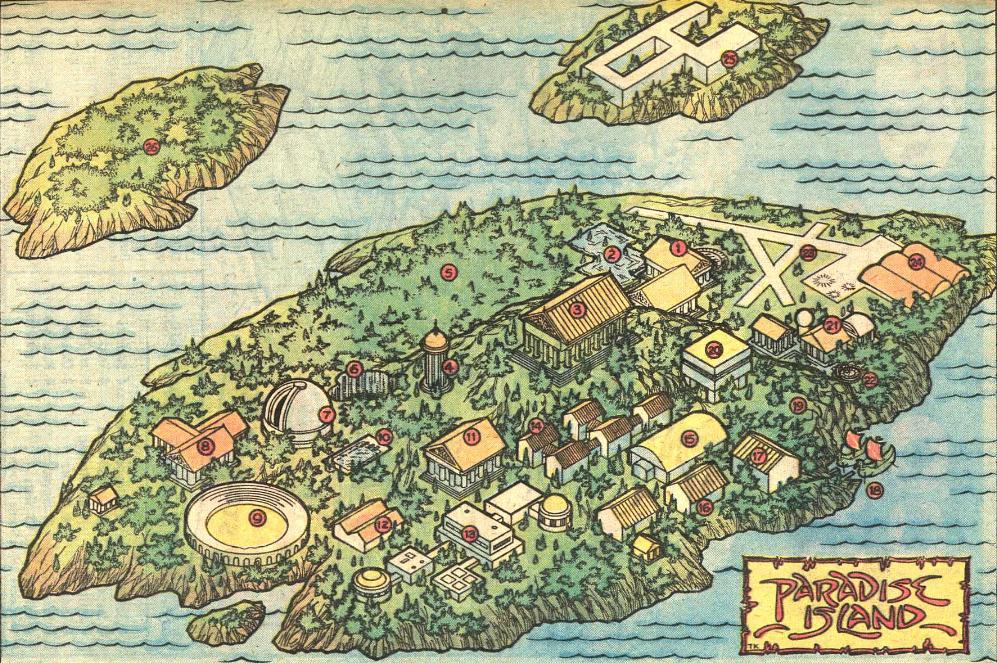 paradise island map