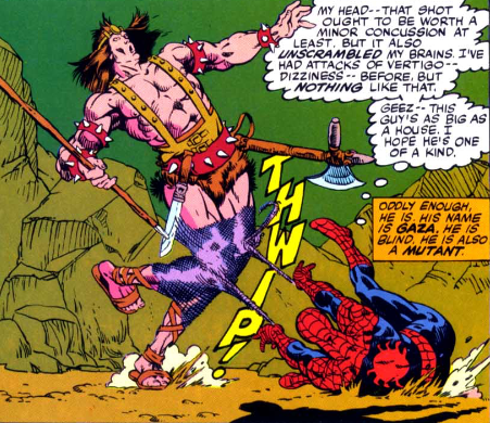 spider-man trips someone