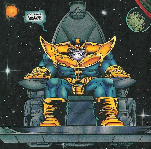 thanos on throne