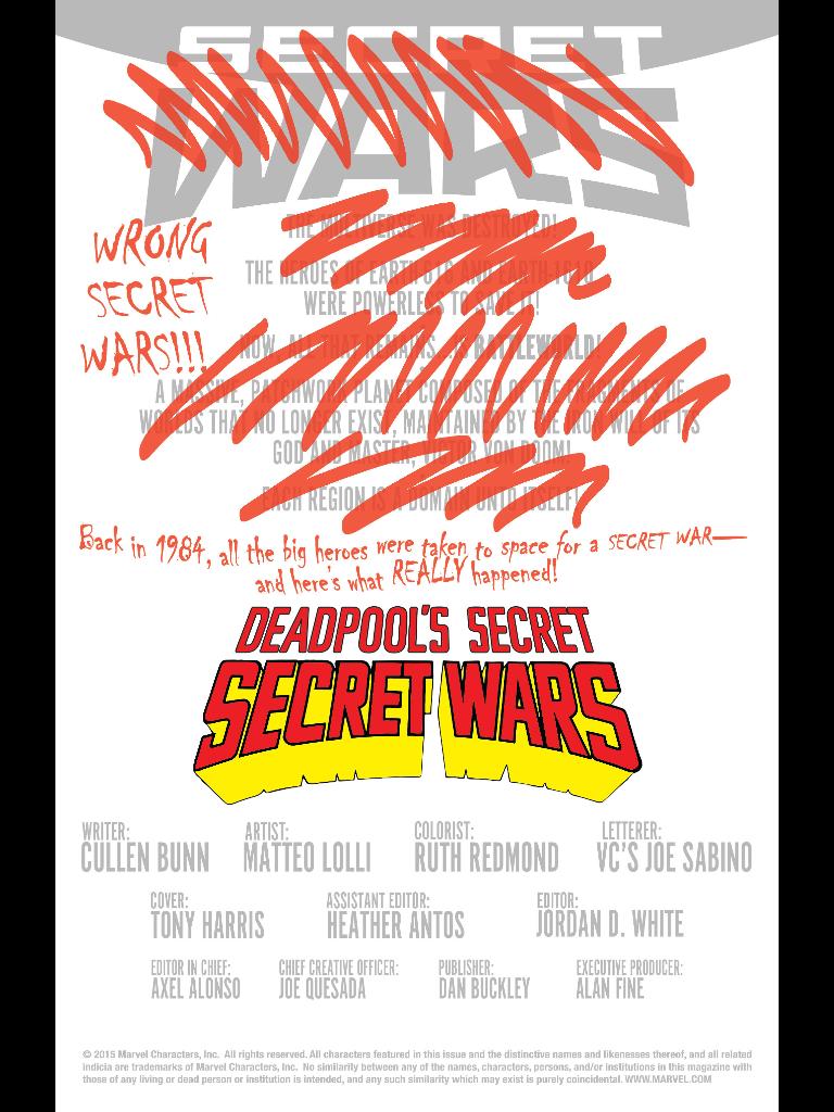 deadpool's secret wars