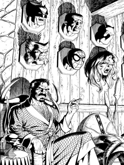 Kraven the Hunter - Trophy Room by Bob McLeod #kraven#kraven the hunter#trophy room#Bob McLeod