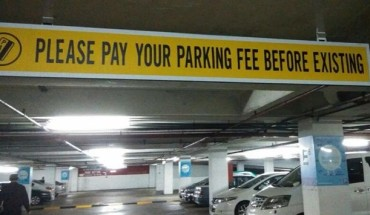 please pay parking fee