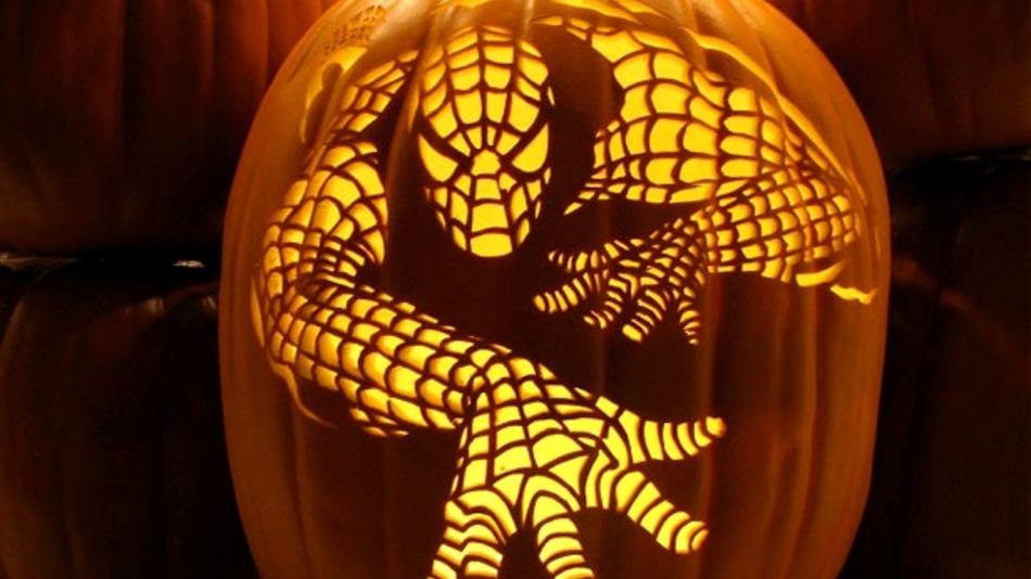 spidey jack o lantern