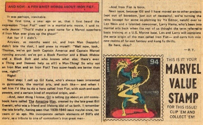 Origin Of Iron ~ Marvel premiere the origin of iron fist